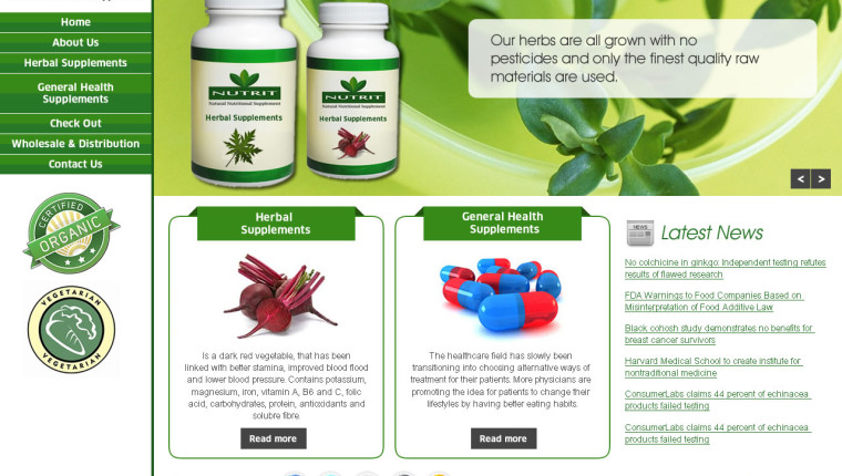 Healthcare and Supplement Company