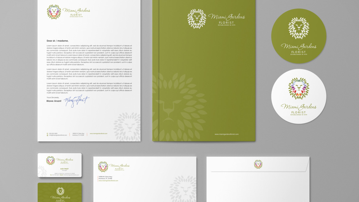 Florist logo and branding package